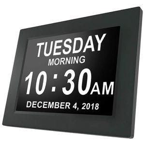 Radio réveil Horloge Calendrier DC8010 avec Date Jour Heure 8 p