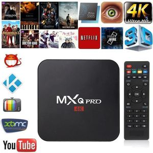 BOX MULTIMEDIA MXQ Pro 4K TV Box Amlogic S905X Quad Core 1 Go Fla