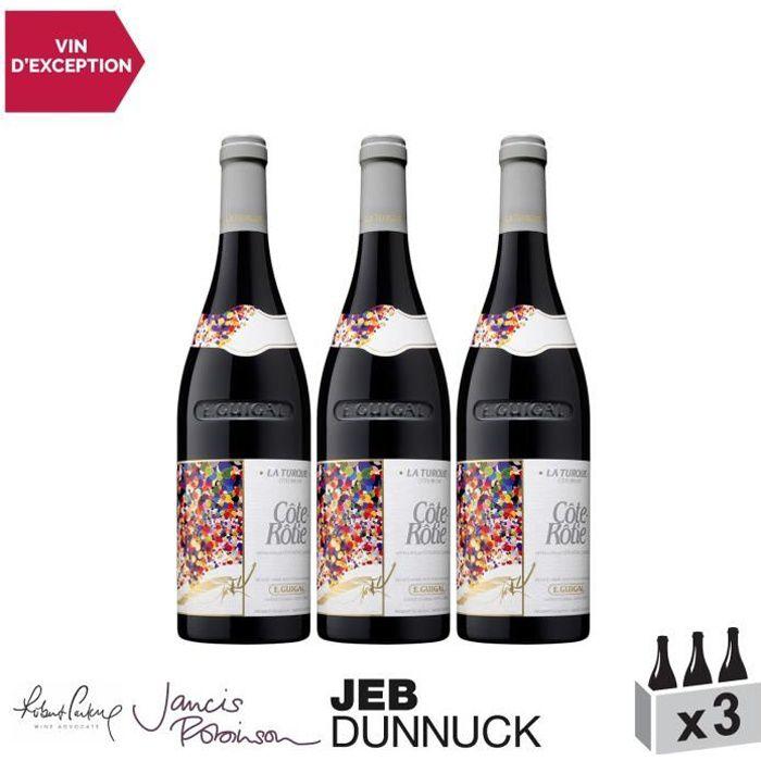 Côte Rôtie La Turque Rouge 2016 - Lot de 3x75cl - Maison Guigal - Vin AOC Rouge de la Vallée du Rhône - 18+-20 Jancis Robinson -