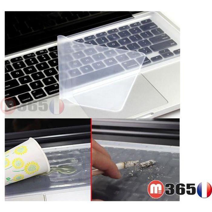 Protection clavier portable 37cm *13,3cm protège clavier ordinateur universel silicone