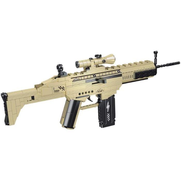 Jouets Technic Pistolet Blocs de Construction385 Pièces Jouets d'Armes à Feu Arme Militaire de Tir Blaster de Fusil dassaut avec B