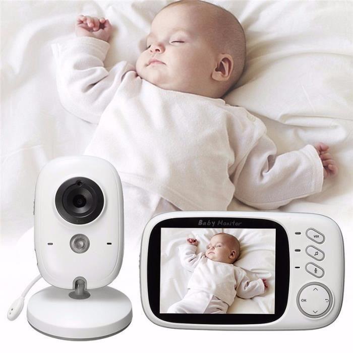 BABY PHONE - ECOUTE BEBE,Moniteur de sommeil pour bébé Avec caméra de nuit sans fil, moniteur vidéo bébé, Radio- Type EU Plug