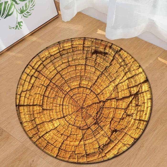 Ywei Grain de bois Kids Play Round Tapis Accueil Tapis Salon Plancher Tapis de yoga Multicolore750