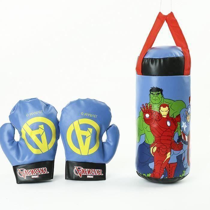 Gants de Boxe Enfant et Sac de Frappe Poire de Boxe Détail Personnage de dessin animé Jouet Ensemble Sport Boxe Punching Ball