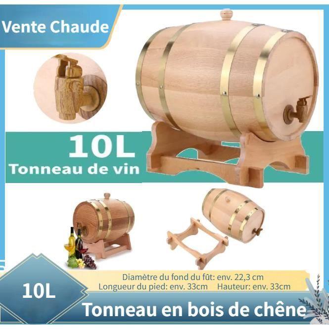 10L tonneau en bois de chêne avec support pour le stockage des vins Baril de chêne #11