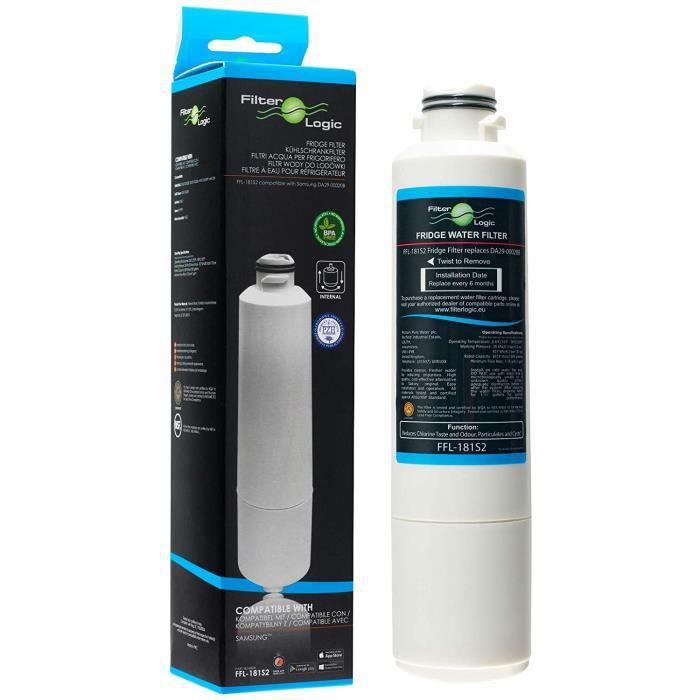 Logic FFL 181S2 Filtre agrave eau compatible avec cartouche Samsung D 29 00020B H F CI EXP H F CI H FCI D 97 08006 B D 9[290]