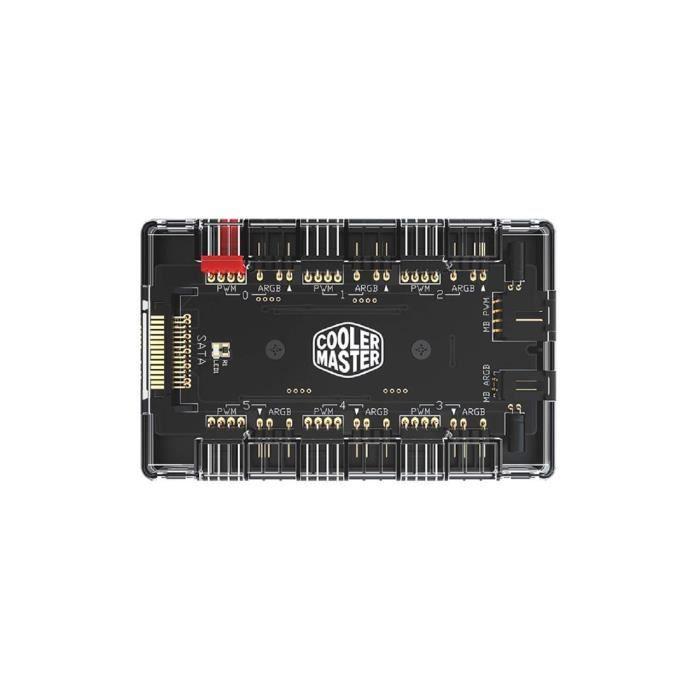 Cooler Master MASTERFAN ARGB / PWM Hub, 6 ports pour éclairage RVB adressable avec PWM (1 à 6 ARGB PWM HUB)