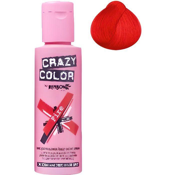 Coloration cheveux semi-permanente CRAZY COLORCouleur : FIRE ROUGEPour un look FUN et des cheveux aux couleurs vives et