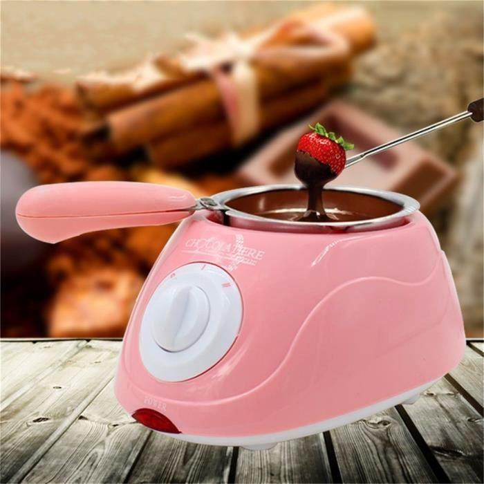 machine à fondre chaud chocolat melting pot fondue électrique en acier inoxydable durable et plastique eu plug