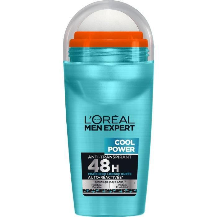 L'Oréal Men Expert Cool Power Déodorant Homme Bille Fraicheur - 50 ml