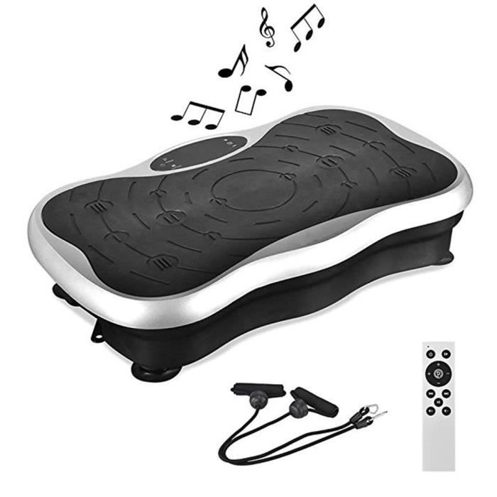 GEEMAX Plateforme Vibrante Oscillante Fitness Ultra Slim Bluetooth Musique Avec Résistance Bande