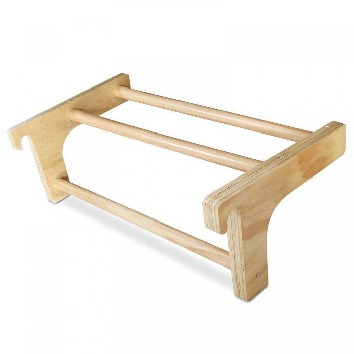Barre de Traction pour Espalier - Bois de Pin, Amovible, 73x45x27 cm - Barre Pull-Up pour Échelle Suédoise, Gym, Fitness, Sport