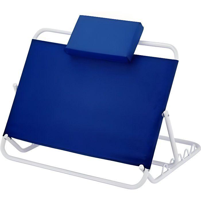 Dossier de lit réglable de 45º à 60º pliable - Couleur bleue