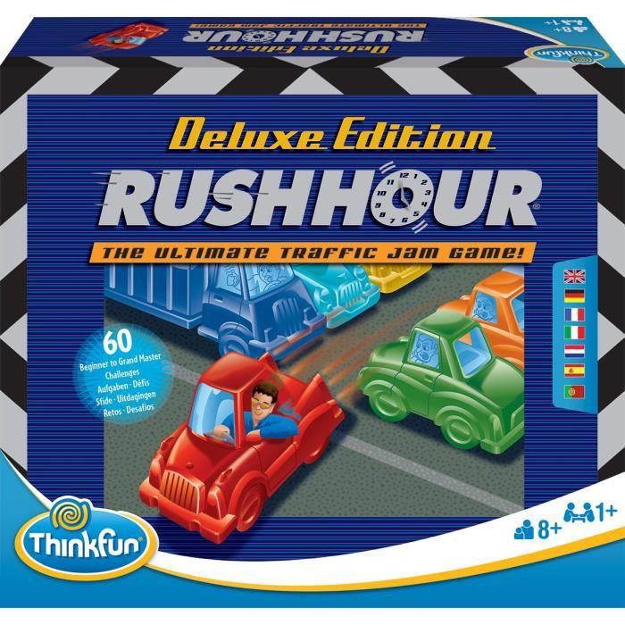 Rush Hour Deluxe - Ravensburger - Casse-tête Think Fun - 60 défis 5 niveaux - Dès 8 ans - Français inclus
