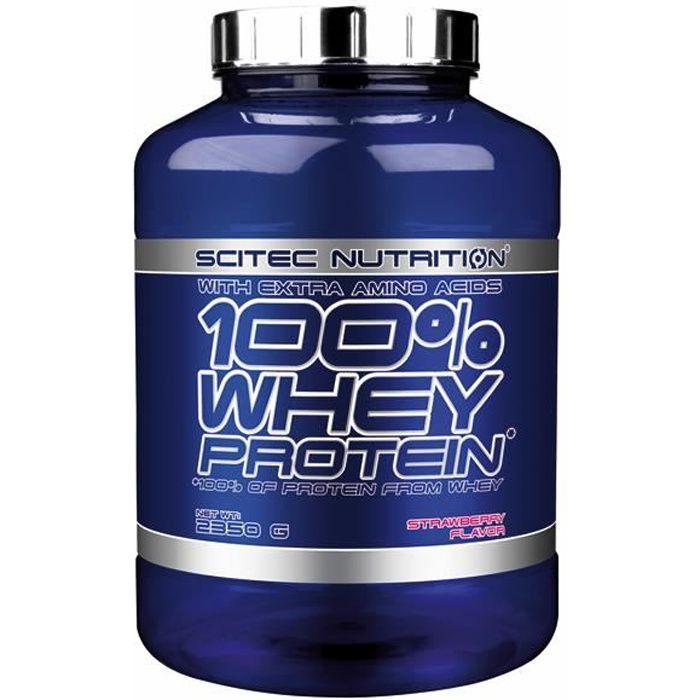 100% WHEY PROTEIN 2350g FRAISE - Scitec Nutrition Proteine