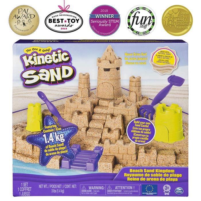 Kinetic Sand Beach Sand Set de jeu avec 3lbs de sable de plage