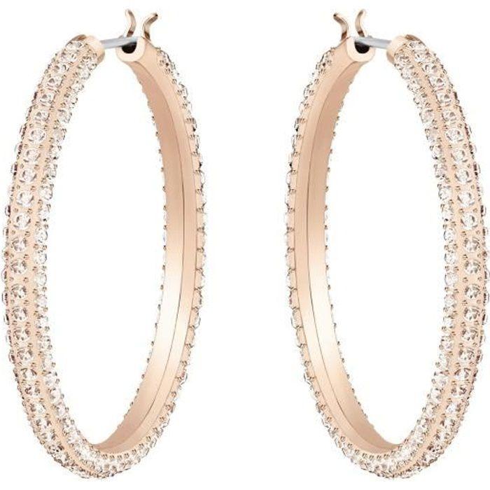 Boucles d'oreilles Swarovski Stone Hoop rosées