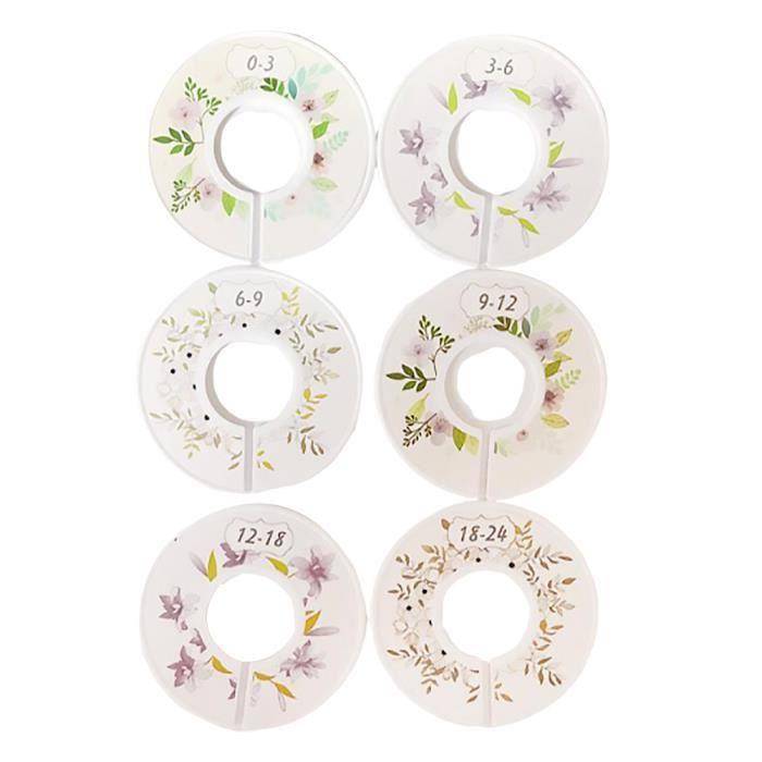 6 pcs vêtements taille diviseurs en plastique coloré concentrique ronde boucles cercle affichage RANGEMENT - CASIER - ETAGERE