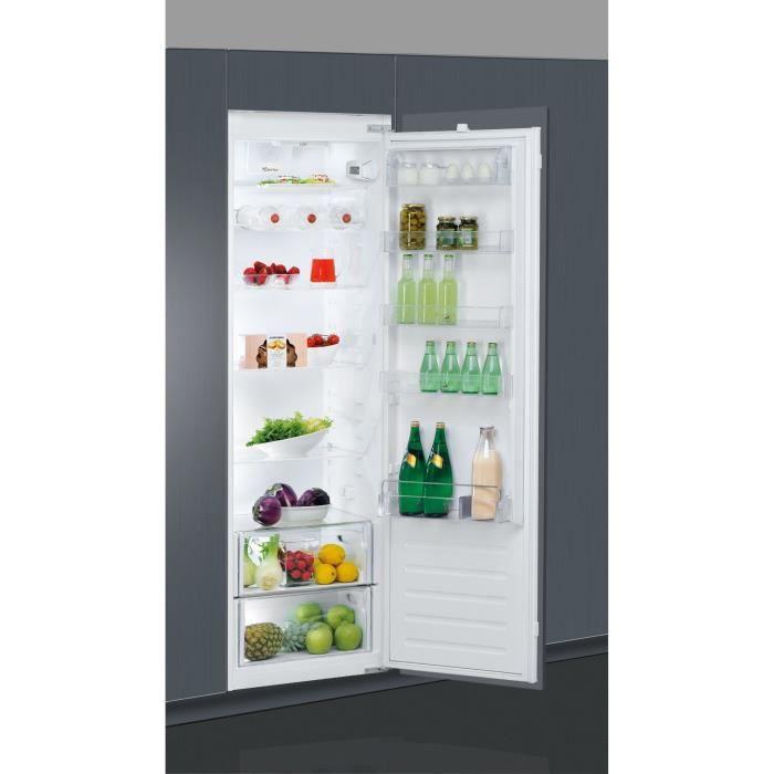 WHIRLPOOL ARG18070A+ - Réfrigérateur encastrable, 177,6 cm, 318 L, Blanc, A+, Charnières glissières, Froid brassé, 6ème Sens