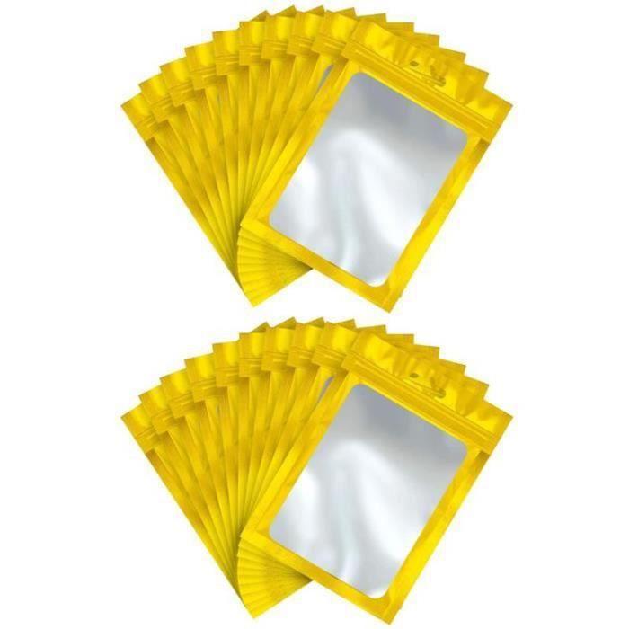 DX22257-Sacs Mylar de ziplock sacs de stockage alimentaire refermables avec fenêtre transparente grains de café Pochette d'emb 9 *