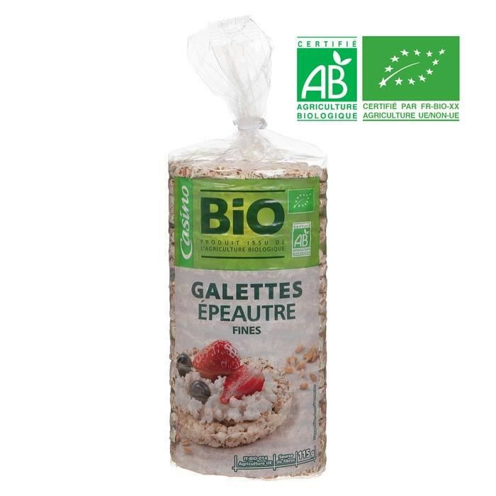 Galettes d'épeautre bio - 115 g