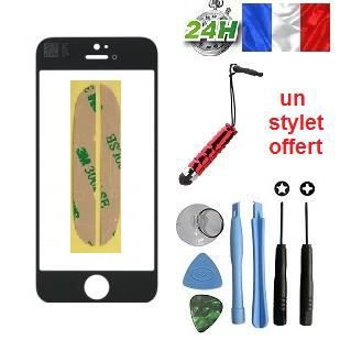 vitre apple iphone 5c noir kit outils stylet offert pour reparer votre ecran lcd achat vente. Black Bedroom Furniture Sets. Home Design Ideas