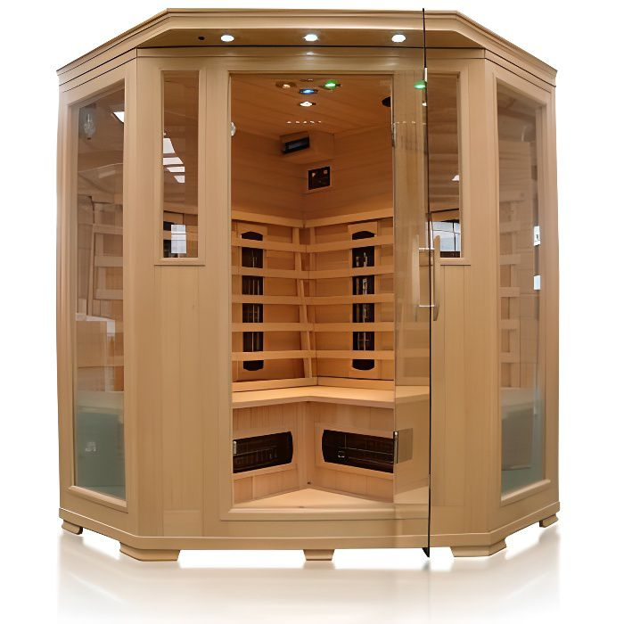 cabine sauna luxe infrarouge 3 4 places achat vente kit sauna cabine sauna luxe infraroug. Black Bedroom Furniture Sets. Home Design Ideas
