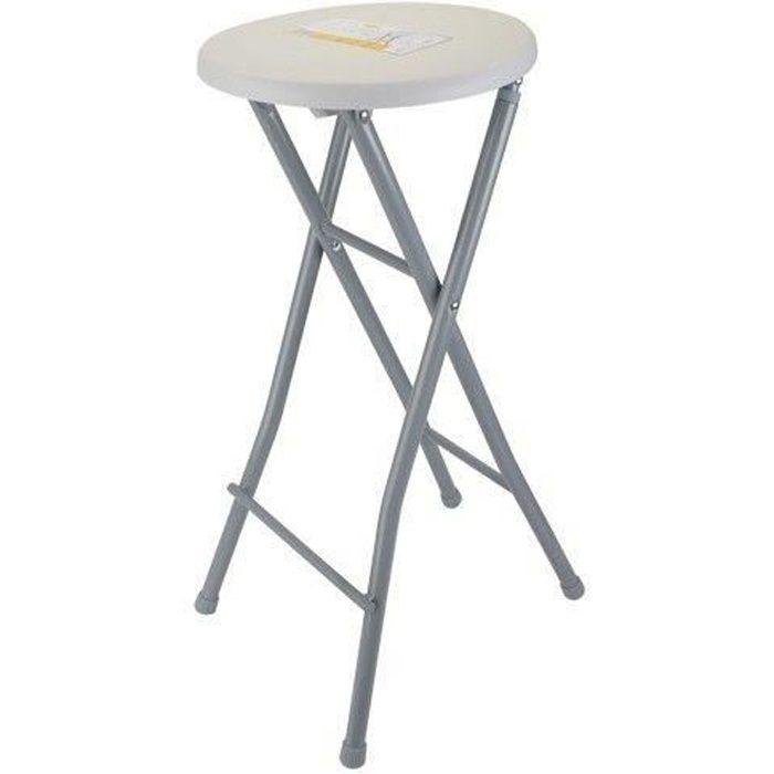 Tabouret De Bar Pliable Pliant Portable Chaise Pouf Siege Decoration Maison Assise Haute Plastique