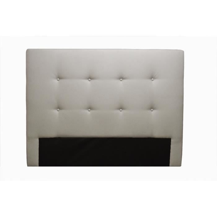 tete de lit simili cuir blanc achat vente t te de lit. Black Bedroom Furniture Sets. Home Design Ideas