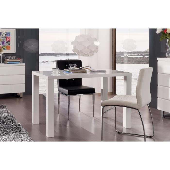 table de cuisine rhodos salle manger laqu e mdf achat vente table de cuisine table de. Black Bedroom Furniture Sets. Home Design Ideas