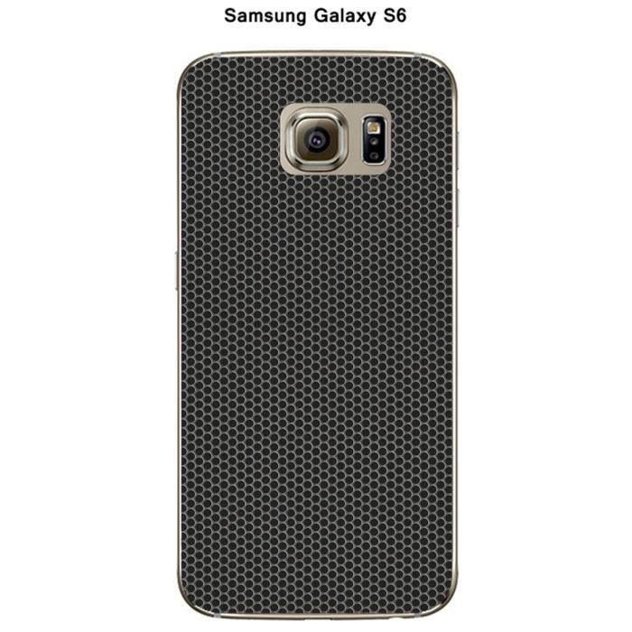coque samsung galaxy s6 carbone noir achat vente coque. Black Bedroom Furniture Sets. Home Design Ideas
