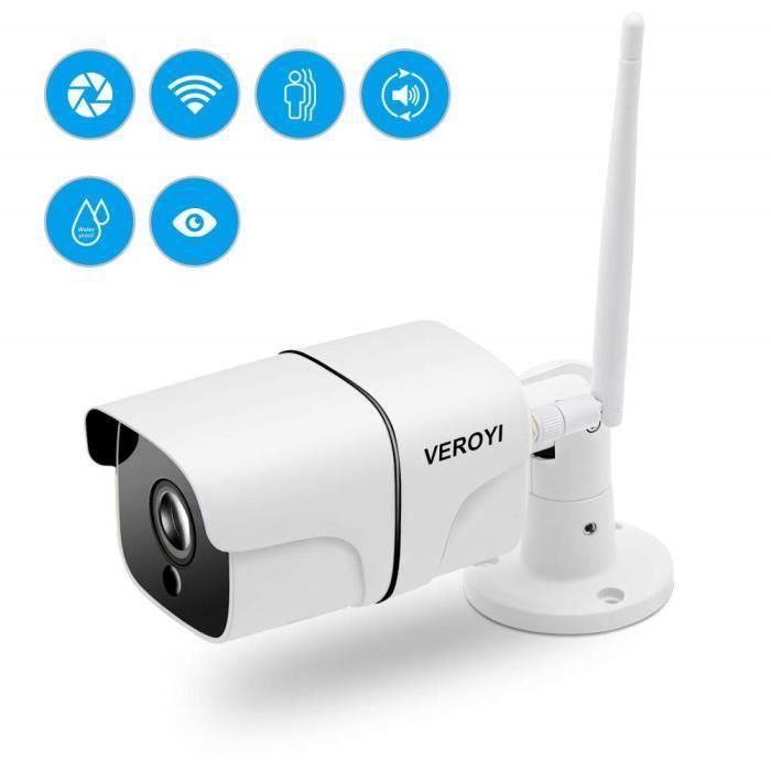 Cam/éra IP 1080P Alarme de d/étection de Mouvement de Soutien Maison//ext/érieur cam/éra de s/écurit/é imperm/éable 4G avec CCTV Solaire de Vision Nocturne