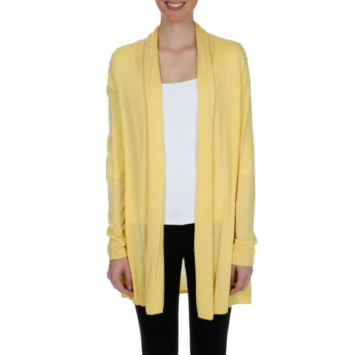 bruce field gilets femme gilet f jaune bleu jaune achat vente gilet cardigan cdiscount. Black Bedroom Furniture Sets. Home Design Ideas