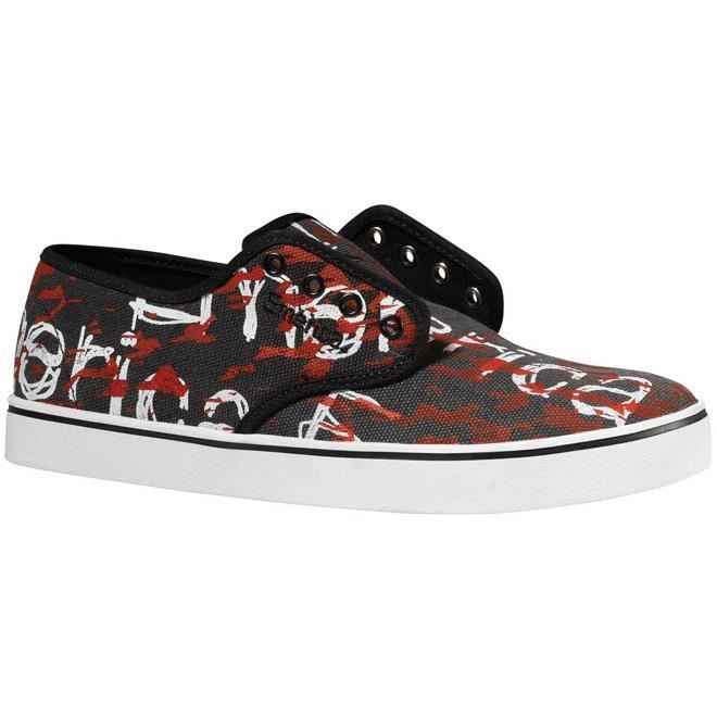 Baskets Homme samples shoes EMERICA LACED BLACK PRINT MEN