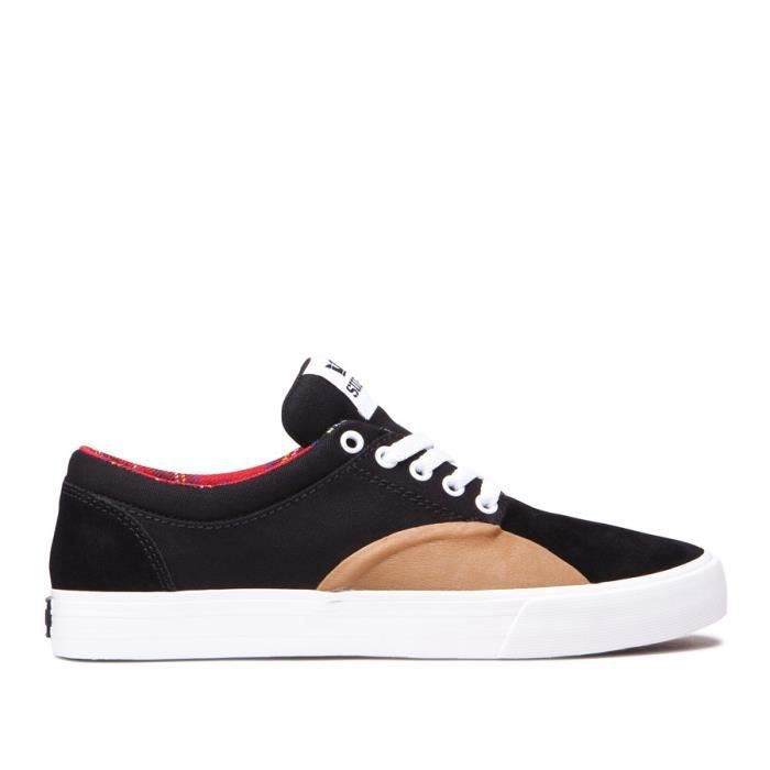 Chaussures SUPRA CHINO black gum white