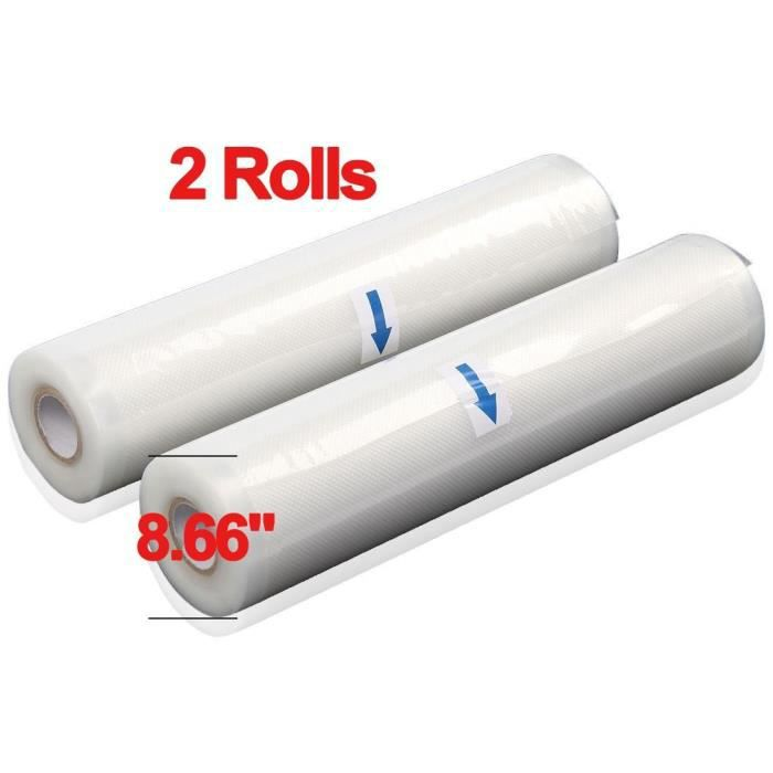 Lot de 2 28 cm x 500 cm Basics Rouleaux pour appareil de mise sous vide