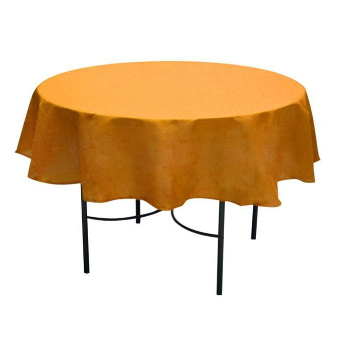 Nappe anti taches ronde 180 cm alix orange achat vente - Table ronde nappe ...