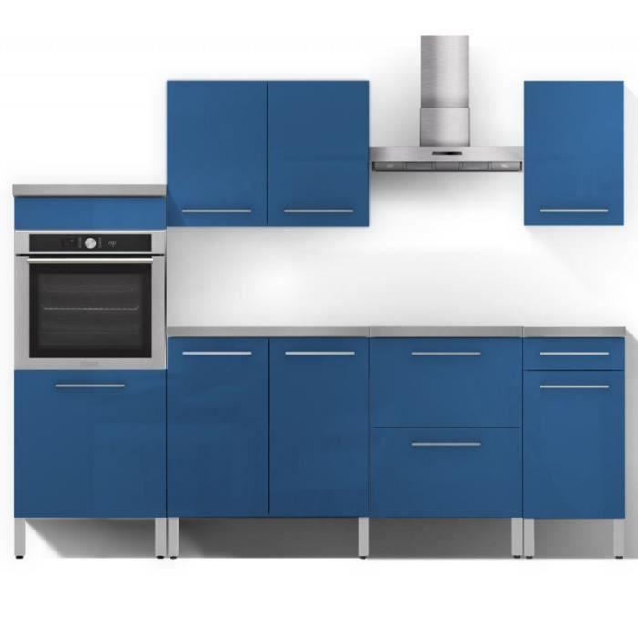 Ensemble Complet Meubles De Cuisine Bleu N 2 Alia L 240 X L 60