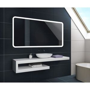 miroir salle de bain 120 cm 60 cm achat vente miroir. Black Bedroom Furniture Sets. Home Design Ideas