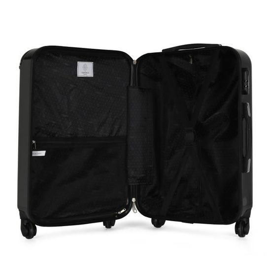 Caterpillar Rolling Sac à dos Trolley Cabine Taille Voyage Valise Noir NEUF