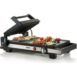 PLANCHA DE TABLE DOMO DO9238G Plancha-Gril 3 en 1 – 2200W - Noir