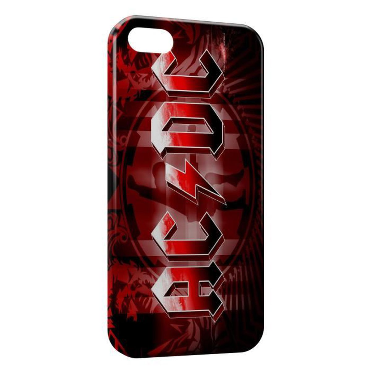 coque iphone 6s plus acdc red style rock