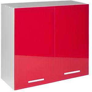 ÉLÉMENTS HAUT Meuble cuisine haut 80 cm 2 portes TARA rouge