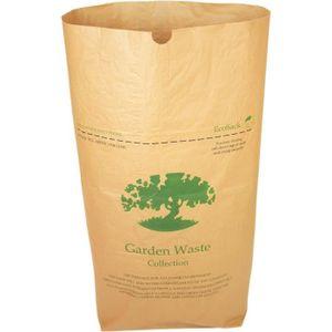 50 Bags Papier Alina 10L Papier Compostable Caddy Sac Poubelle//d/échets Alimentaires Sac Poubelle//biod/égradable Marron 10/Litre Sac de Papier Guide de Compost