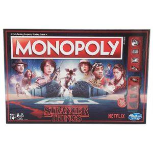 JEU SOCIÉTÉ - PLATEAU Jeu de société - Monopoly - Stranger Things - Hasb