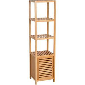 COLONNE - ARMOIRE SDB Meuble colonne rangement salle de bain bambou desi