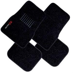 TAPIS DE SOL Jeu de 4 tapis moquette noirs broderie RS Racing