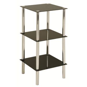 meuble etagere en verre et chrome achat vente meuble etagere en verre et chrome pas cher. Black Bedroom Furniture Sets. Home Design Ideas