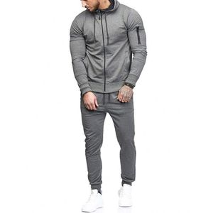SWEATSHIRT Sweat Zipper Patchwork Automne Hommes Top Pantalon