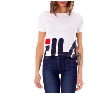 T-SHIRT T-shirt Fila Early 684490 M67 Blanc.